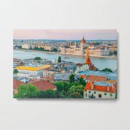 Budapest sunset Metal Print