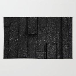 white speckled contrasted bricks - black and white Rug