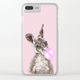 Bubble Gum Baby Kangaroo Clear iPhone Case