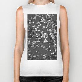 Gray Black Night Glitter Stars #1 #shiny #decor #art #society6 Biker Tank