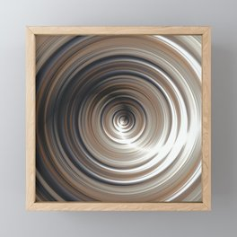 Cosmic Swirl: digital art with concentric circles Framed Mini Art Print