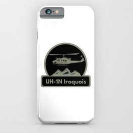 UH-1N Iroquois Helicopter iPhone Case