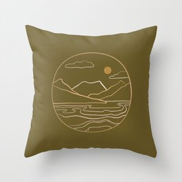 sneak peak –olive Throw Pillow