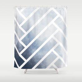winter herringbone Shower Curtain