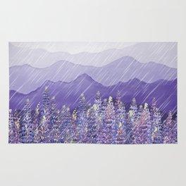 Purple Mountain Rain Rug