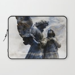 Cemetery Angles with Marble Sky Laptop Sleeve