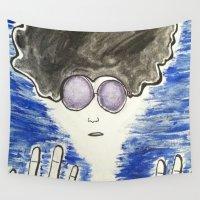 hippie Wall Tapestries featuring Hippie by ArtAngel