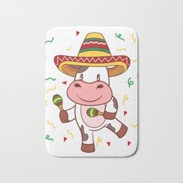 "Mexican themed Top Garment Apparel ""Cow Farm Grill Meat BBQ Brisket"" T-shirt Design Mexico Bath Mat"