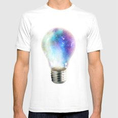 Light up your galaxy MEDIUM Mens Fitted Tee White