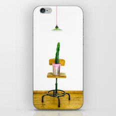 Cactus in pink iPhone & iPod Skin