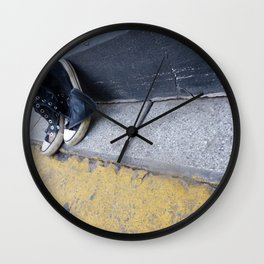 Alone on the street Wall Clock
