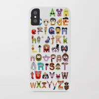 sesame street iPhone & iPod Cases featuring Sesame Street Alphabet by Mike Boon