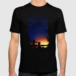Calvin And Hobbes With Starry Night T-shirt