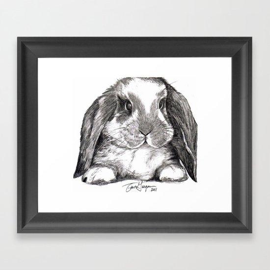 Bunny Framed Art Print