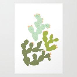 Prickly Pear Cacti Art Print