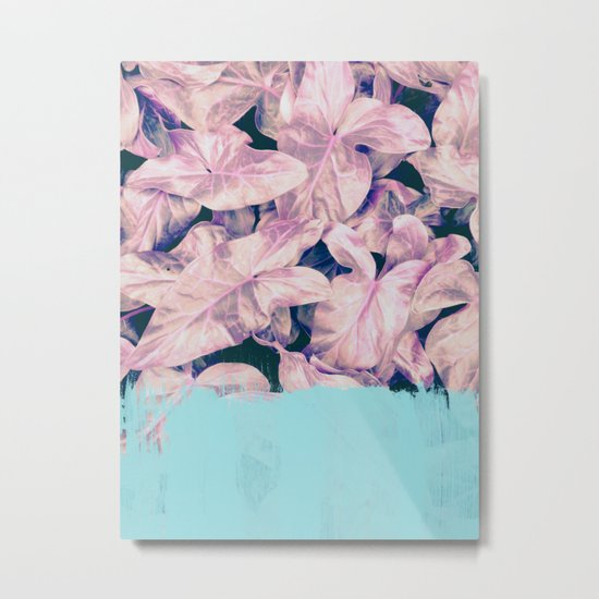 Teal Sorbet on Jungle Metal Print