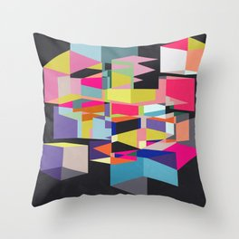 Cube Skew Throw Pillow