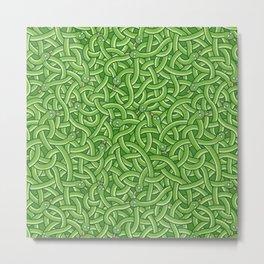 Little Green Snakes Metal Print