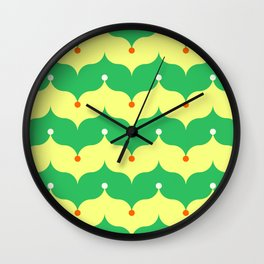 emerald and butter clown onions Wall Clock