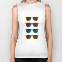 sunglasses Biker Tanks featuring FAVORITE SUNGLASSES by Allyson Johnson