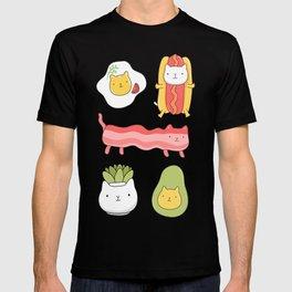 Cat food and succulent T-shirt