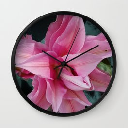 Solitary Lily Wall Clock