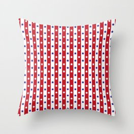 Stars and Stripes | Red White and Blue Pattern | Throw Pillow