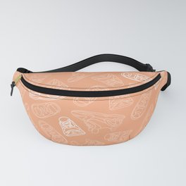 Sneakers // Peach Fanny Pack