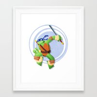leonardo Framed Art Prints featuring Leonardo by Geoff Munn