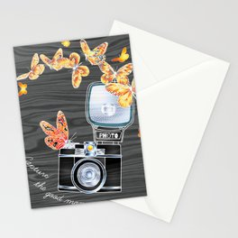 Aesthetic Old School Camera Stationery Cards