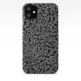 Figures Keith Haring Black iPhone Case