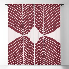 Brownish Red Minimal Fall Leaf Blackout Curtain