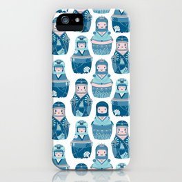Matrioshkas Pattern iPhone Case