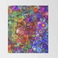 Cosmic Marbles Throw Blanket