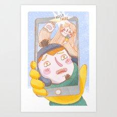 Ieti Selfie Art Print