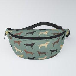 Labrador Retriever Dog Silhouettes Pattern Fanny Pack