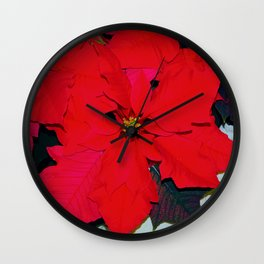 Poinsettia Wall Clock
