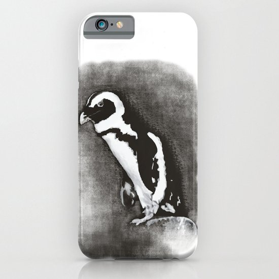Charcoal Penguin iPhone & iPod Case