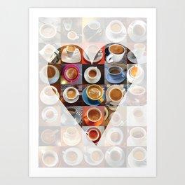 EspresslyYours Valentines Day card Art Print
