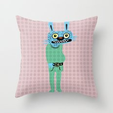 HIPSTER BUNNY Throw Pillow