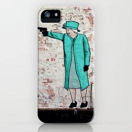 Street Art London Queen Thug Urban Wall Graffiti Artist Prolifik iPhone Case