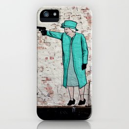 Street Art London Queen Thug Urban Wall Graffiti Artist Prolifik iPhone Case