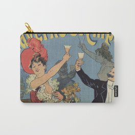 French Paris Restaurant advert by Chéret 1899 Carry-All Pouch