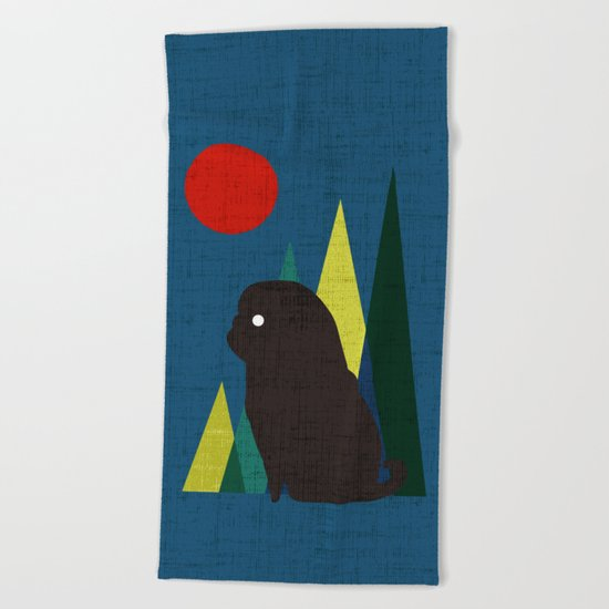 Waiting for you Beach Towel