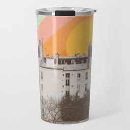 Rainbow Sky Above Paris Travel Mug