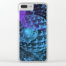 Spherical Abstract Clear iPhone Case