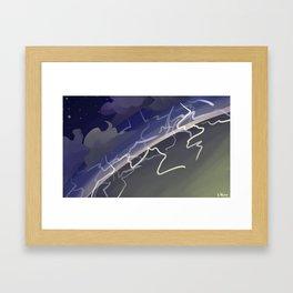 Land of Storms Framed Art Print