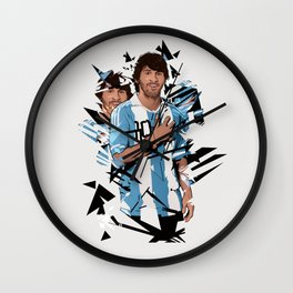 Football Legends: Lionel Messi Argentina Wall Clock