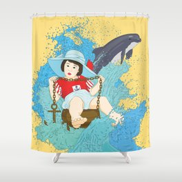 The Sailor Child Shower Curtain