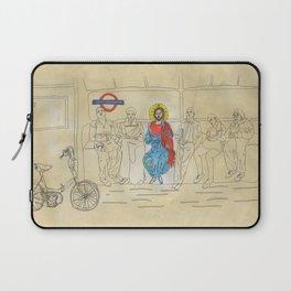 Jesus on the Tube, He is among us Laptop Sleeve